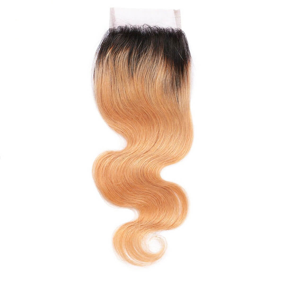 Lakihair 8A Blonde Ombre 1B/27 Lace Closure 4x4 Virgin Human Hair Body Wave  Closure