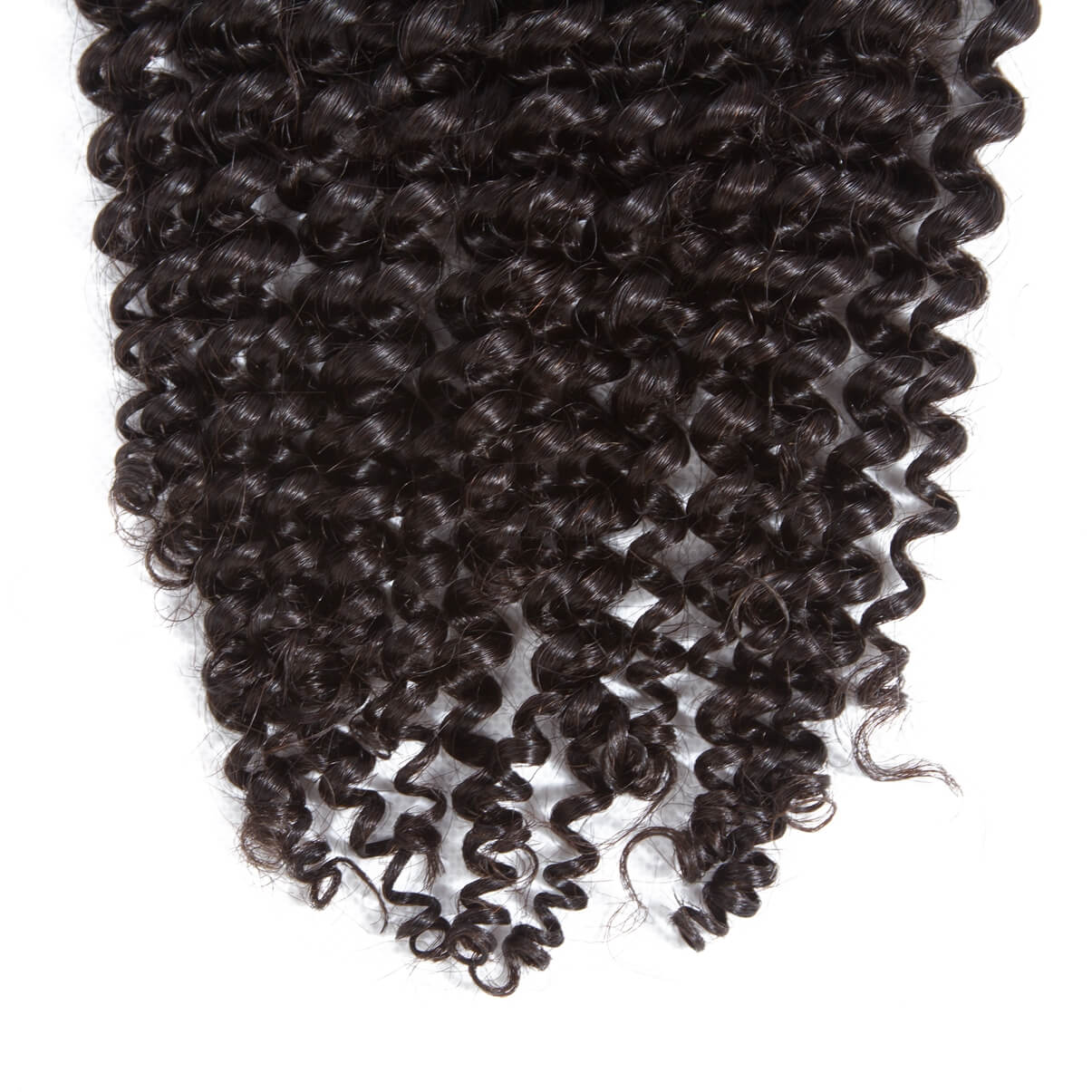 Lakihair 8A Brazilian Kinky Curly Hair Extensions 3 Bundles With Lace Closure 4x4