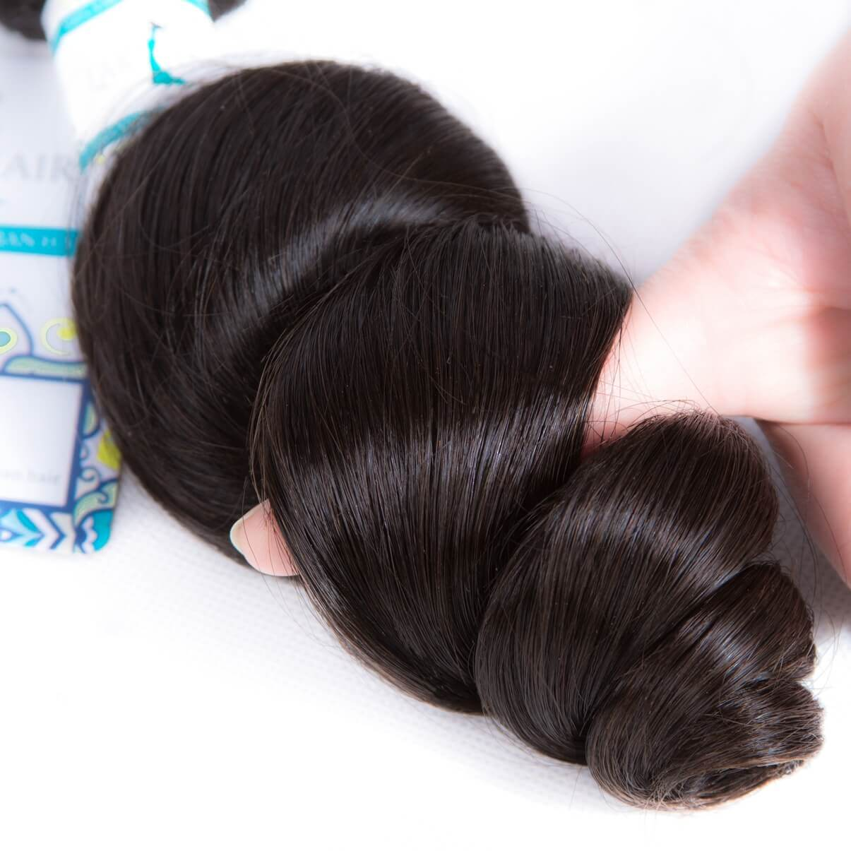 Lakihair Brazilian 8A Loose Wave 3 Bundles With Closure 4x4 Virgin Human Hair Weave