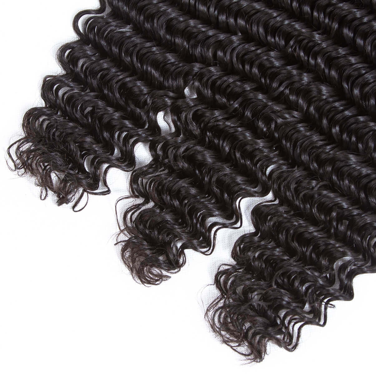 Lakihair 8A Brazilian Virgin Human Hair Deep Wave 3 Bundles With Lace Frontal Closure 13x4