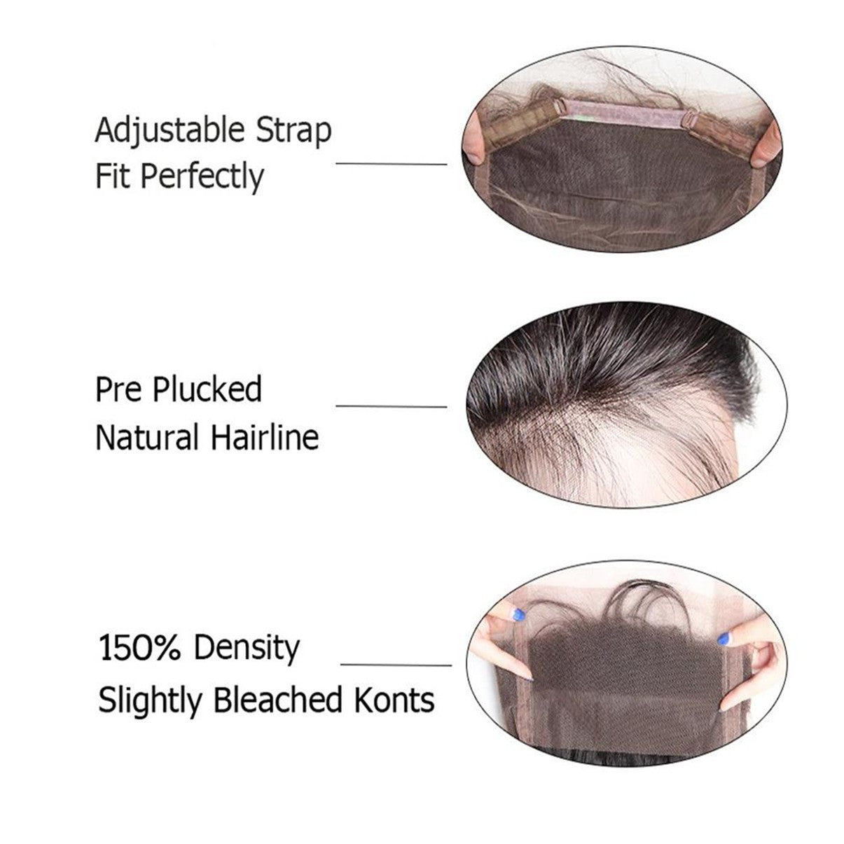 Lakihair 8A Grade Virgin Human Hair Water Wave Hair Extensions 2 Bundles With 360 Lace Frontal