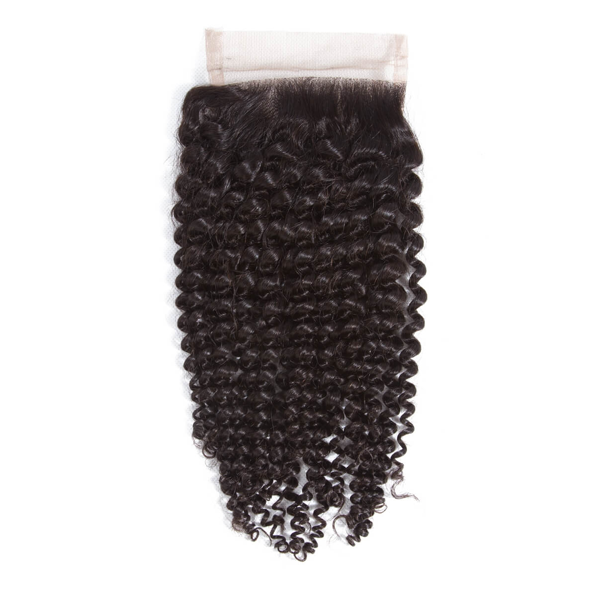 Lakihair 8A Brazilian Human Hair 4 Bundles Kinky Curly Hair Bundles With Lace Closure 4x4