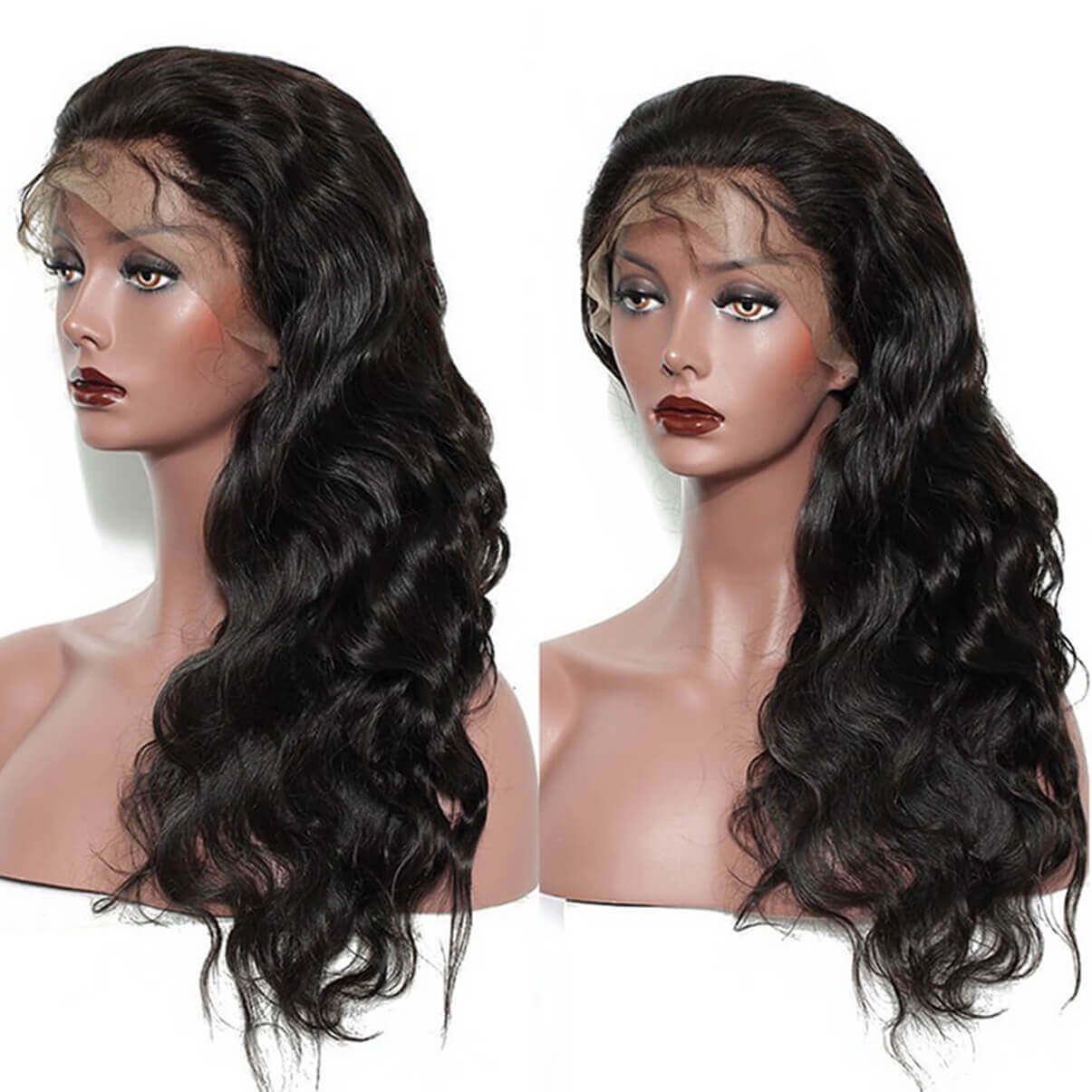 Lakihair Body Wave Full Lace Virgin Human Hair Wigs 180% Density Pre Plucked With Baby Hair