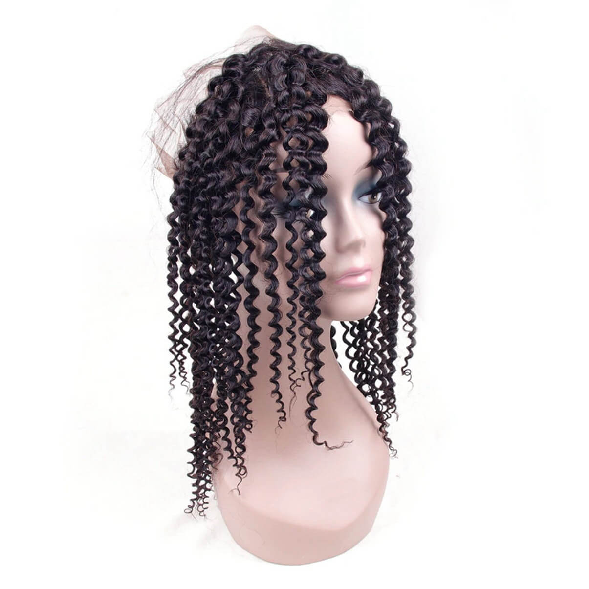 Lakihair Brazilian Kinky Curly 360 Lace Frontal Closure Virgin Human Hair Frontal