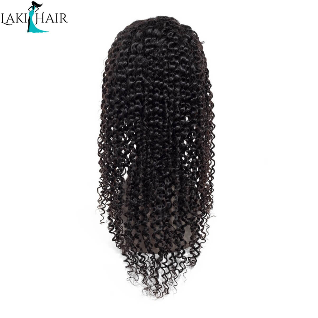 Lakihair Deep Curly Lace Front Wigs Real Virgin Human Hair Lace Wigs With Baby Hair 180% Density