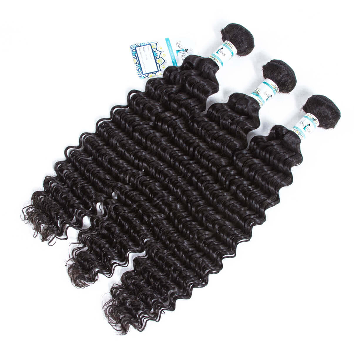 Lakihair 8A Brazilian Deep Wave Real Virgin Human Hair Bundles 3 Bundles Deals 100% Unprocessed Human Hair Weaving Soft Full Bundles