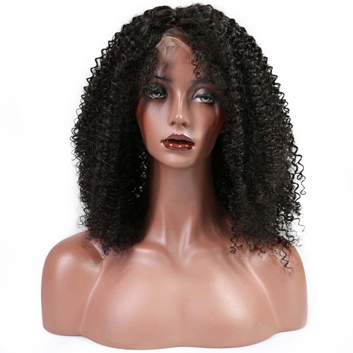Lakihair Kinky Curly Lace Front Wigs Virgin Human Hair Lace Wigs With Baby Hair