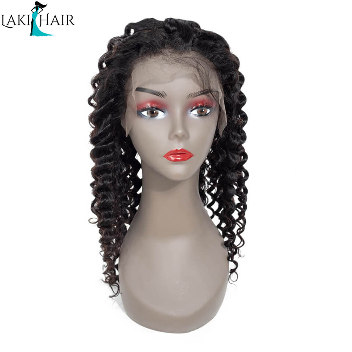 Lakihair Lace Front Wigs Deep Wave 180% Full Density 100% Virgin Human Hair Wigs With Baby Hair