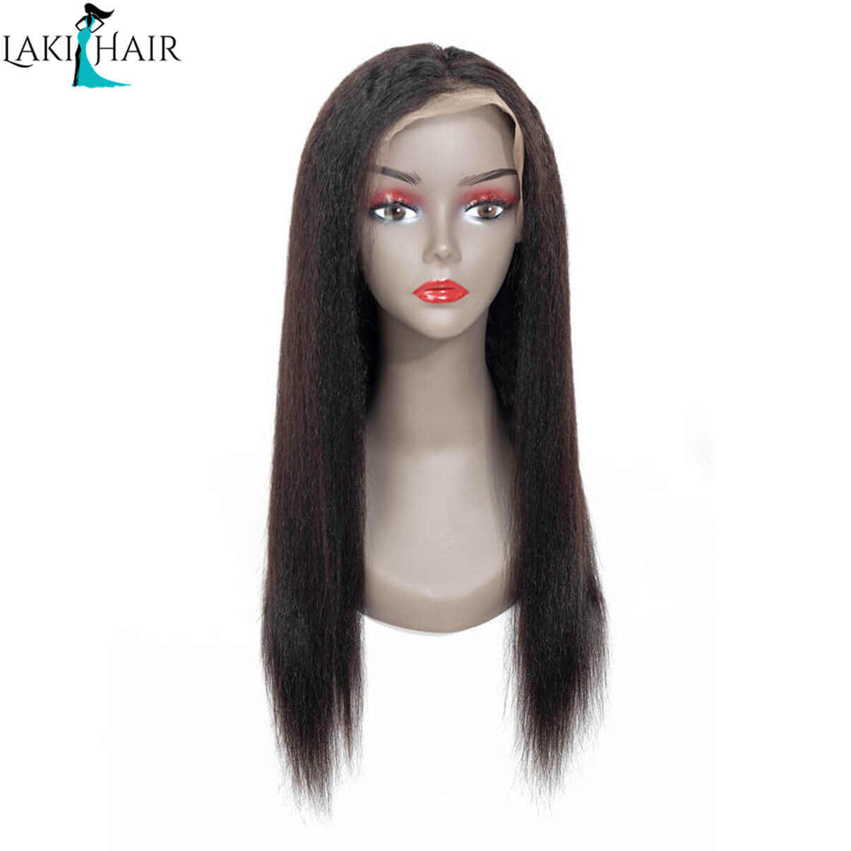 Lakihair Lace Front Wigs Kinky Straight Virgin Human Hair Lace Wigs With Baby Hair