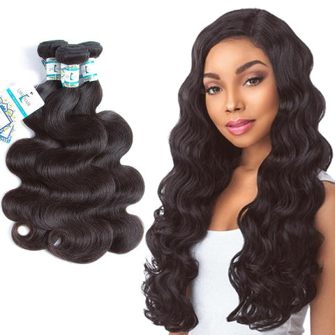 Lakihair 8A Malaysian Virgin Human Hair Weaving 3 Bundles Deal Body Wave Hair