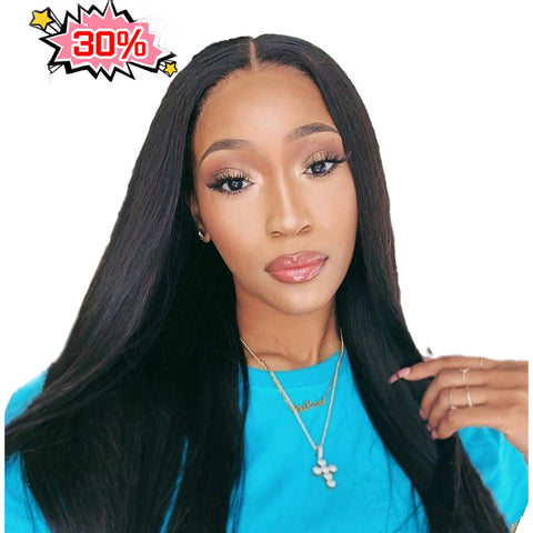 Lakihair 8A Straight Lace Front Wigs Human Hair Pre Plucked With Baby Hair Brazilian Virgin Hair
