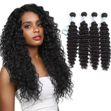 Lakihair 8A Virgin Human Hair Deep Wave 4 Bundles Hair Extensions