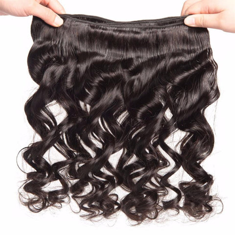 Lakihair 8A Indian 3 Bundles Deals Loose Wave Virgin Human Hair