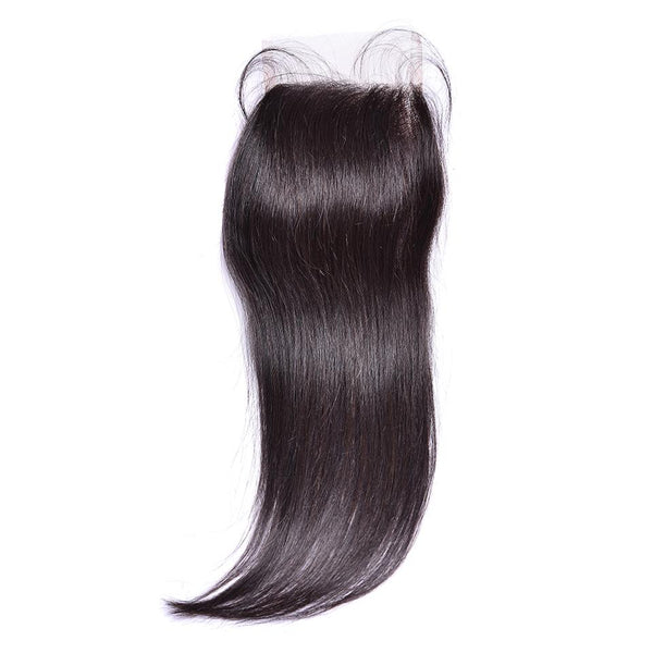 Lakihair 8A Grade 4x4 Lace Closure Brazilian Straight Virgin Human Hair Closure