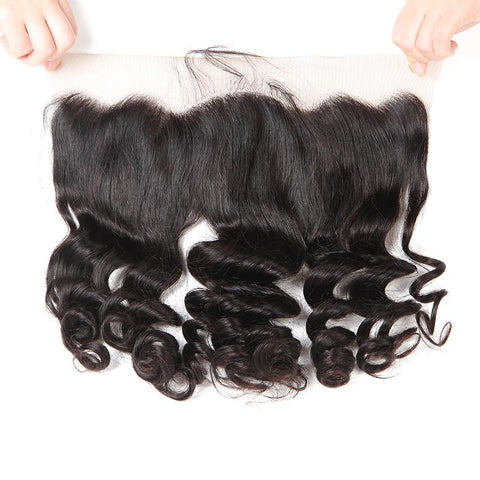 Lakihair 8A Loose Wave Lace Frontal Virgin Brazilian Human Hair 13x4 Pre Plucked