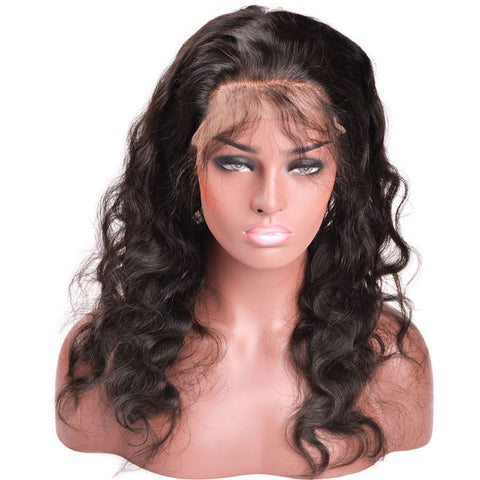 Lakihair Body Wave 360 Lace Frontal Closure With Baby Hair 8A Brazilian Human Hair Natural Color