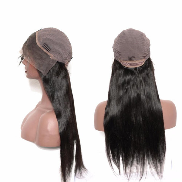 Lakihair Silky Straight Lace Front Wigs 100% Unprocessed Human Hair  Wigs