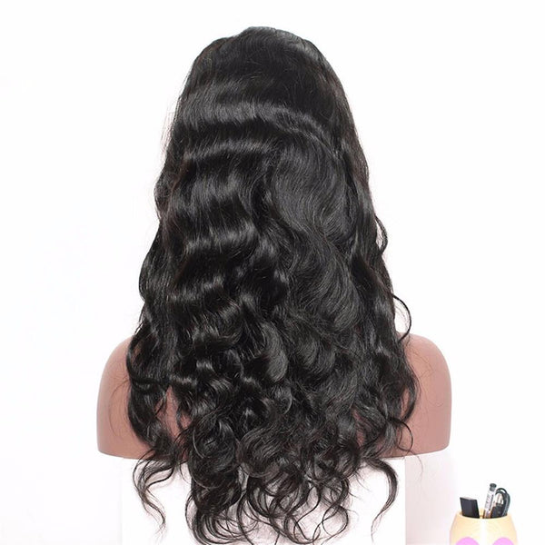 Lakihair Body Wave 100% Unprocessed Human Hair Lace Front Wigs With Baby Hair 180% Density