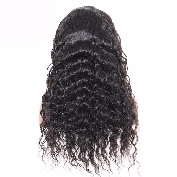 Lakihair Full Lace Virgin Human Hair Wigs Loose Wave Short Human Hair Styles 180% Density