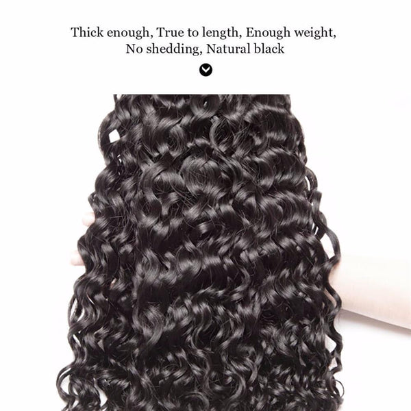 Lakihair 10A Real Virgin Water Wave Hair Bundles Top Quality 3 Bundles Virgin Human Hair Weaving