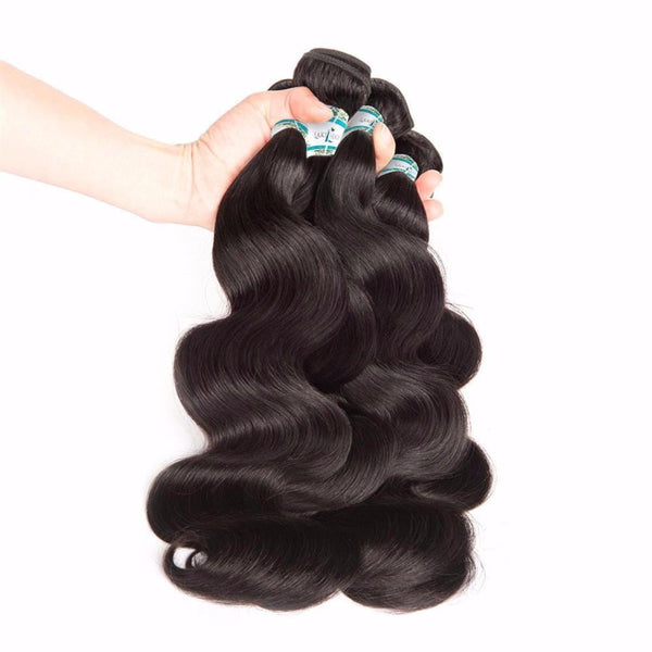 Lakihair 8A 3 Bundles Deal Human Hair Weaving Body Wave 100% Unprocessed Virgin Human Hair