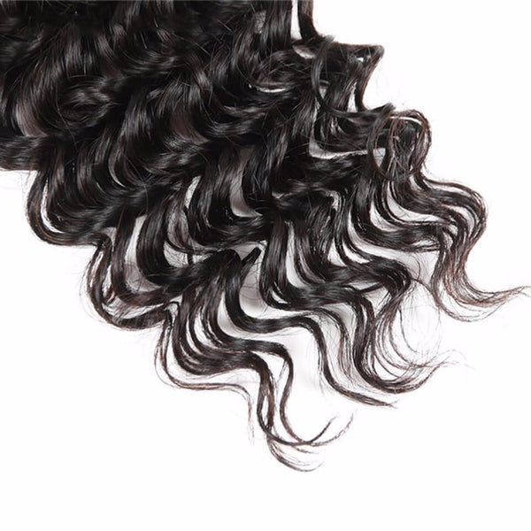 Lakihair 10A Top Quality Deep Wave 3 Bundles Virgin Brazilian Hair Hair Weaving 100% Virgin Hair