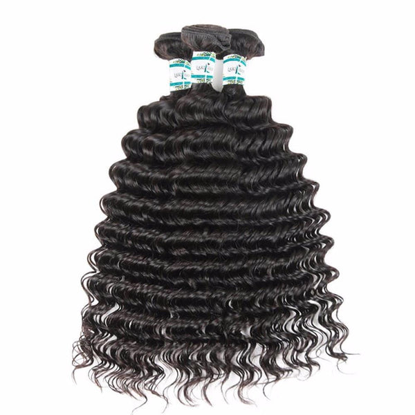 Lakihair 8A Peruvian Virgin Human Hair 3 Bundles Deals Deep Wave Hair