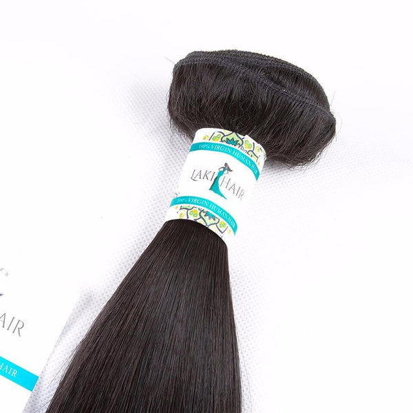 Lakihair 8A Brazilian Virgin Human Hair 4 Bundles Straight Hair Bundles
