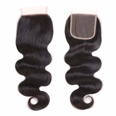 Lakihair 8A Grade Body Wave 4x4 Lace Closure Virgin Human Hair Closure