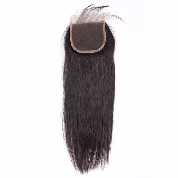 Lakihair Unprocessed Virgin Human Hair Bundles With Lace Frontal Closure Brazilian Straight Hair 4 Bundles With Closure