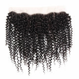 Lakihair 8A Pre Plucked 13x4 Lace Frontal Closure Brazilian Kinky Curly Virgin Human Hair