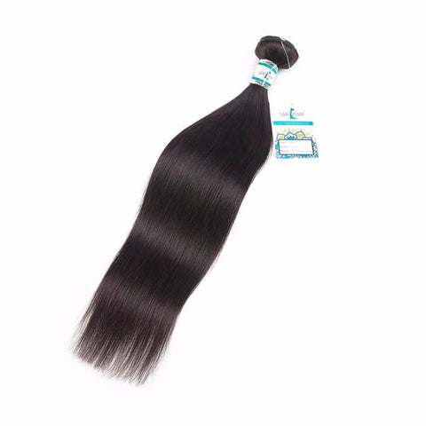 Lakihair 10A Top Quality 1 Bundles Brazilian Virgin Human Straight Hair Weaving