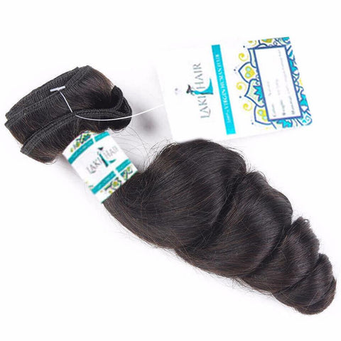 Lakihair 10A Top Quality Loose Wave 1 Bundles Brazilian Virgin Human Hair Weaving
