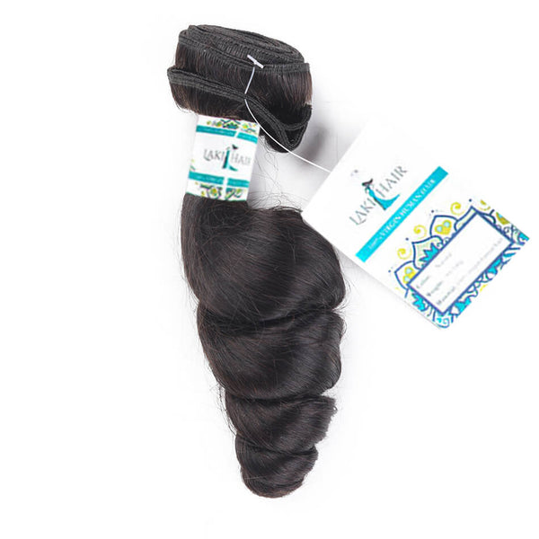 Lakihair 8A Loose Wave Hair Weaving 1 Bundle Deals Virgin Human Hair