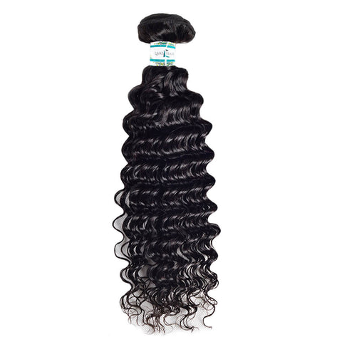 Lakihair 8A Human Hair Weaving Deep Wave 1 Bundle Virgin Human Hair