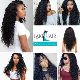 Lakihair 8A Brazilian Virgin Human Hair Water Wave Lace Closure 4x4 With Baby Hair