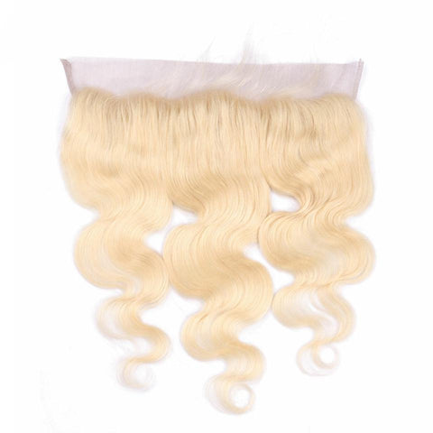Lakihair 613 Blonde Lace Frontal Closure 8A Body Wave 13x4  Pre Plucked Good Quality