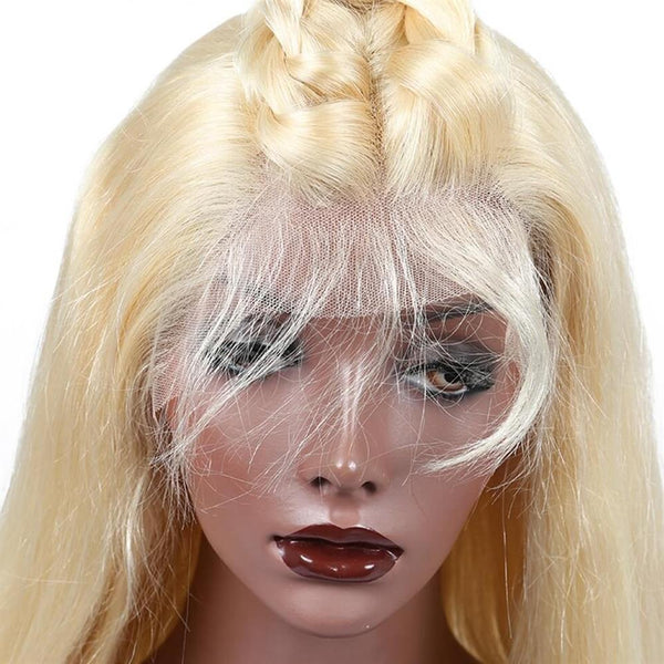 Lakihair 180 Density 613 Blonde Lace Front Wig 10A Body Wave Human Hair Wig Baby Hair Pre Plucked