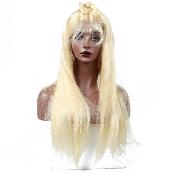 Lakihair 613 180  10A Blonde Lace Front Wig Human Straight Hair Wigs
