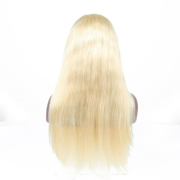 Lakihair 613 Blonde Virgin Brazilian Straight Lace Wigs 180% Density Lace Front Human Hair Wigs