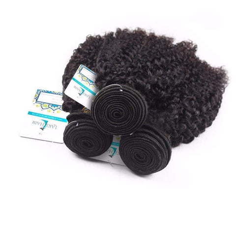 Lakihair 8A Malaysian Kinky Curly Virgin Human Hair 3 Bundles Hair Extensions