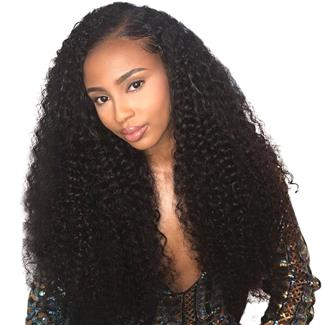 Lakihair 10A Kinky Curly 4 Bundles With Lace Closure 4x4 Brazilian Human Hair Bundles Unprocessed