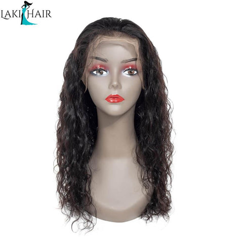 Lakihair Natural Wave Lace Front Wigs 180% Density  Glueless Lace Wigs Pre Plucked With Baby Hair