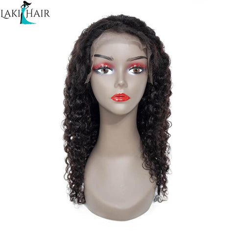 Lakihair Long Virgin Human Hair Wigs Water Wave Lace Front Wigs Unprocessed Human Hair