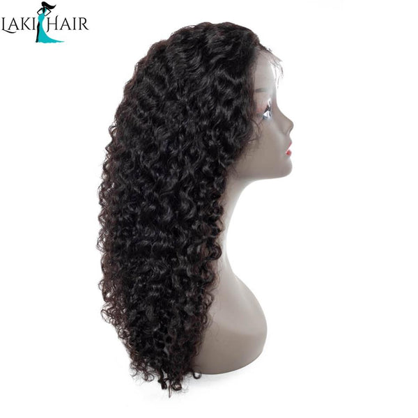 Lakihair 8A  Water Wave Lace Front Wigs 150% Density Unprocessed Human Hair Pre Plucked