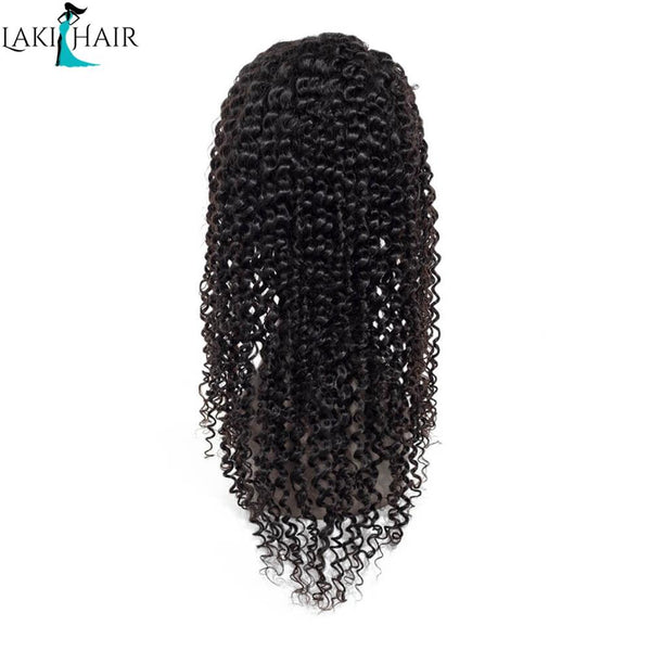Lakihair Deep Curly Lace Front Wigs Real Virgin Human Hair Long Lace Wigs 180% Density