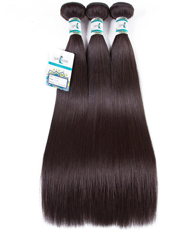 Lakihair 10A 3 Bundles Color 2 Human Hair Weave 2#  Hair Weft Brazilian Straight Hair