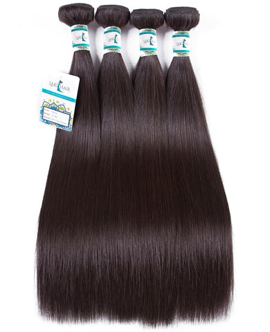 Lakihair 10A Brazilian Virgin Human Hair Color 2 Straight Hair 4 Bundles Good Blonde Hair Weave