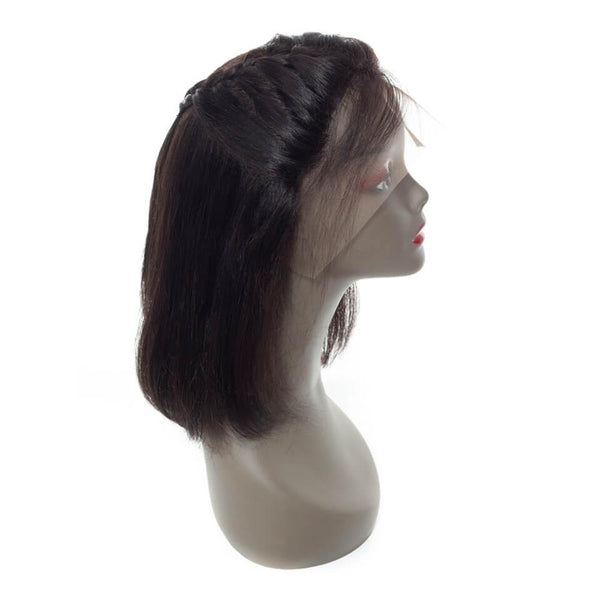 Lakihair Human Hair Wigs Virgin 8A Brazilian Straight Hair Bob Wigs With Pre Plucked