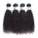 Lakihair Unprocessed Virgin Human Hair Bundles With Lace Frontal Closure Brazilian Kinky Curly 4 Bundles With Closure
